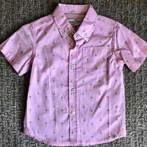 NWT Pink Pineapple Button-down Shirt.